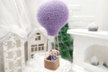 Вяжем воздушный шарик крючком (описание + видео)