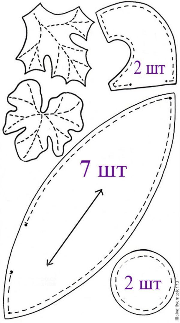 Выкройка тыквы