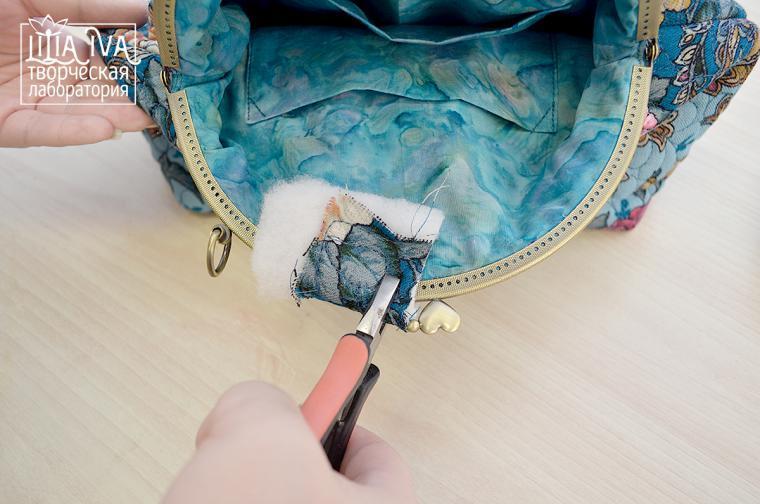 Как сшить сумку - закрепляем фермуар